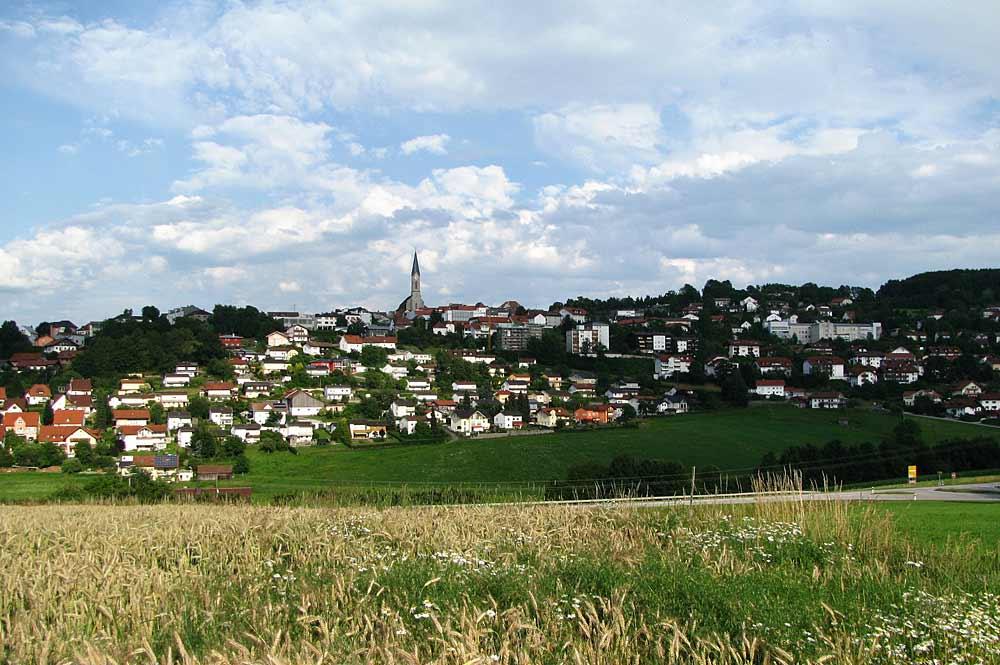 Blick auf die Stadt Waldkirchen