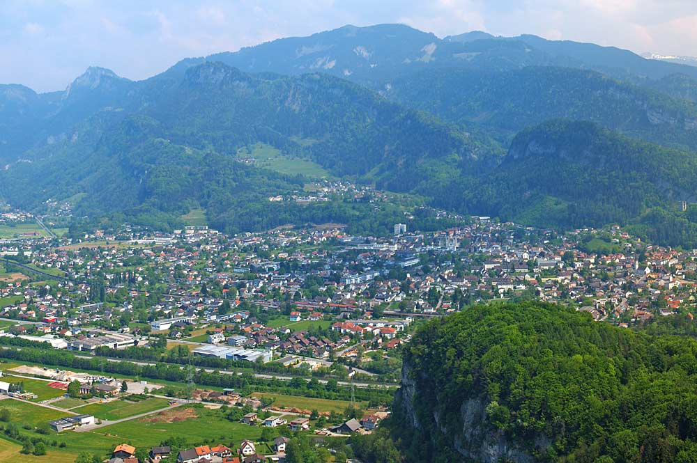 Götzis vom Kummenberg aus gesehen
