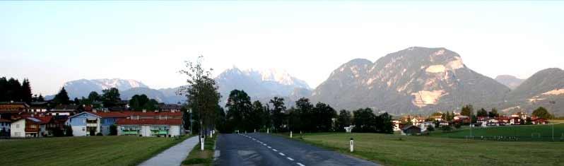 Blick auf den Ort Angerberg und den Ortsteil Baumgarten