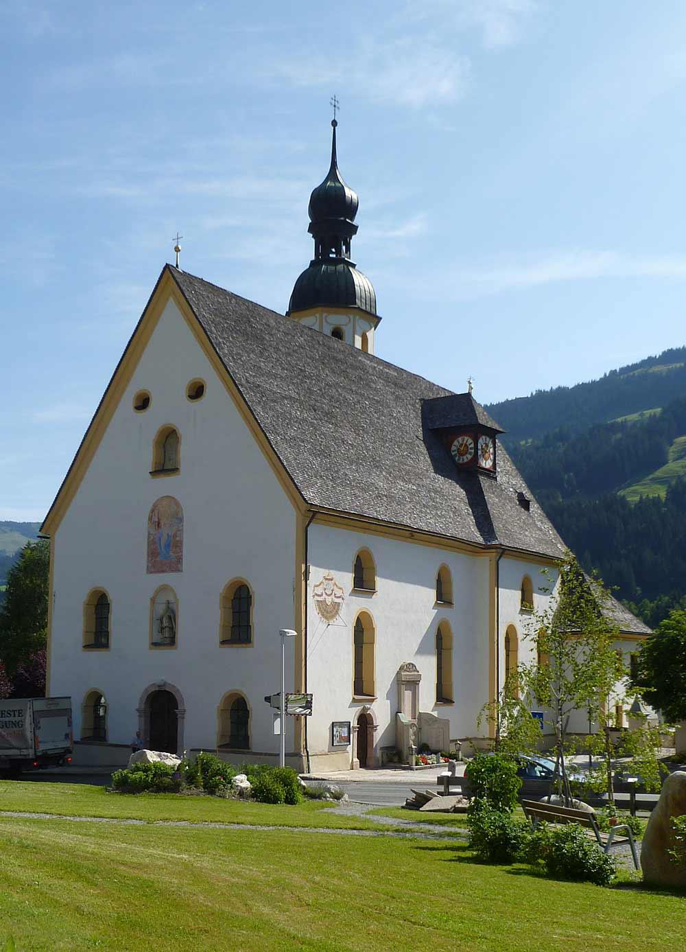 Die Pfarrkirche St. Wolfgang in Jochberg