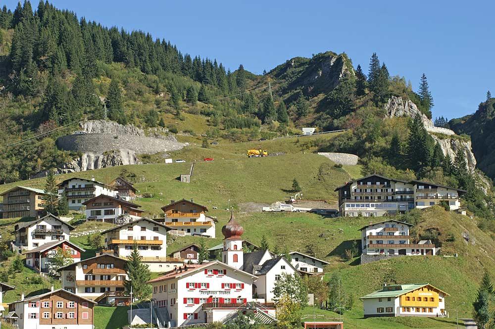 Bauernhäuser in Stuben am Arlberg