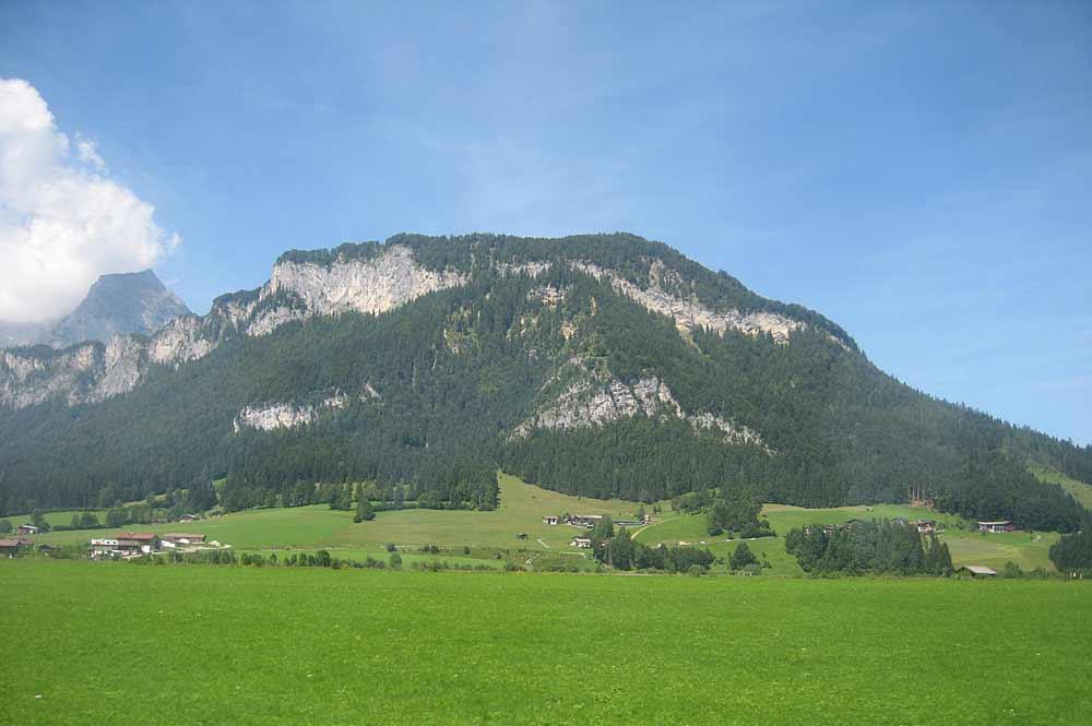 Blick auf das Kaisergebirge in Tirol
