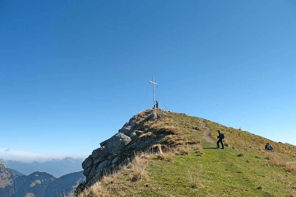 Gipfel der Krinnenspitze mit Blick nach Osten