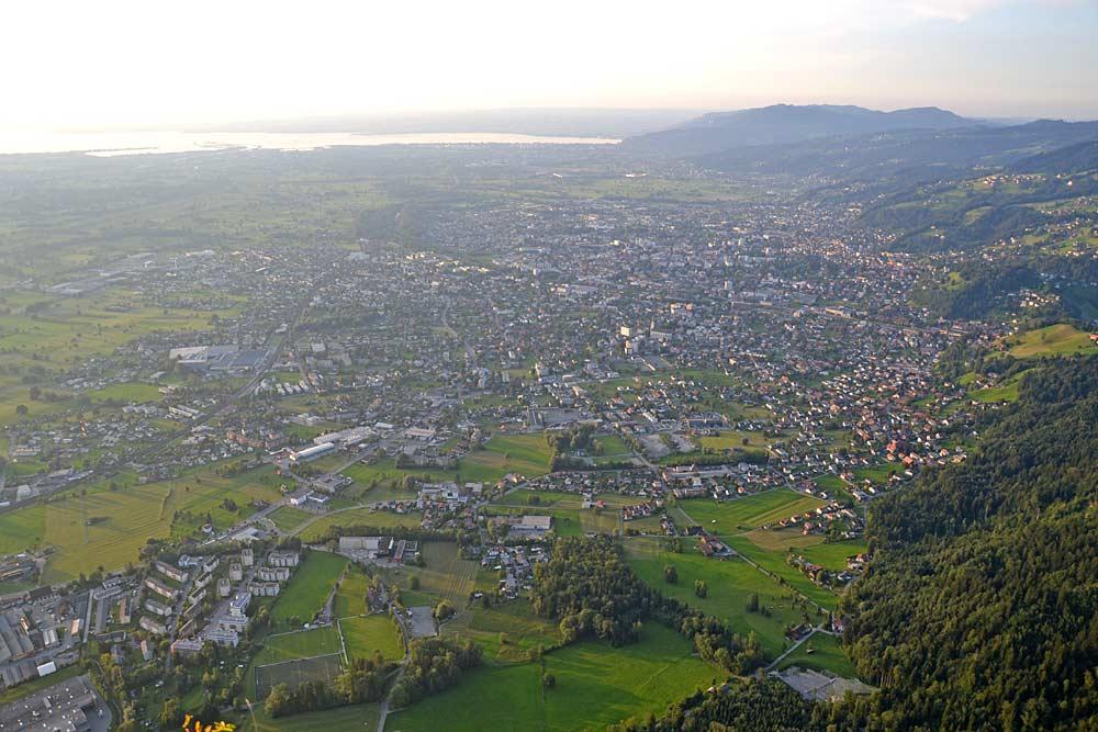 Blick vom Breitenberg auf Dornbirn
