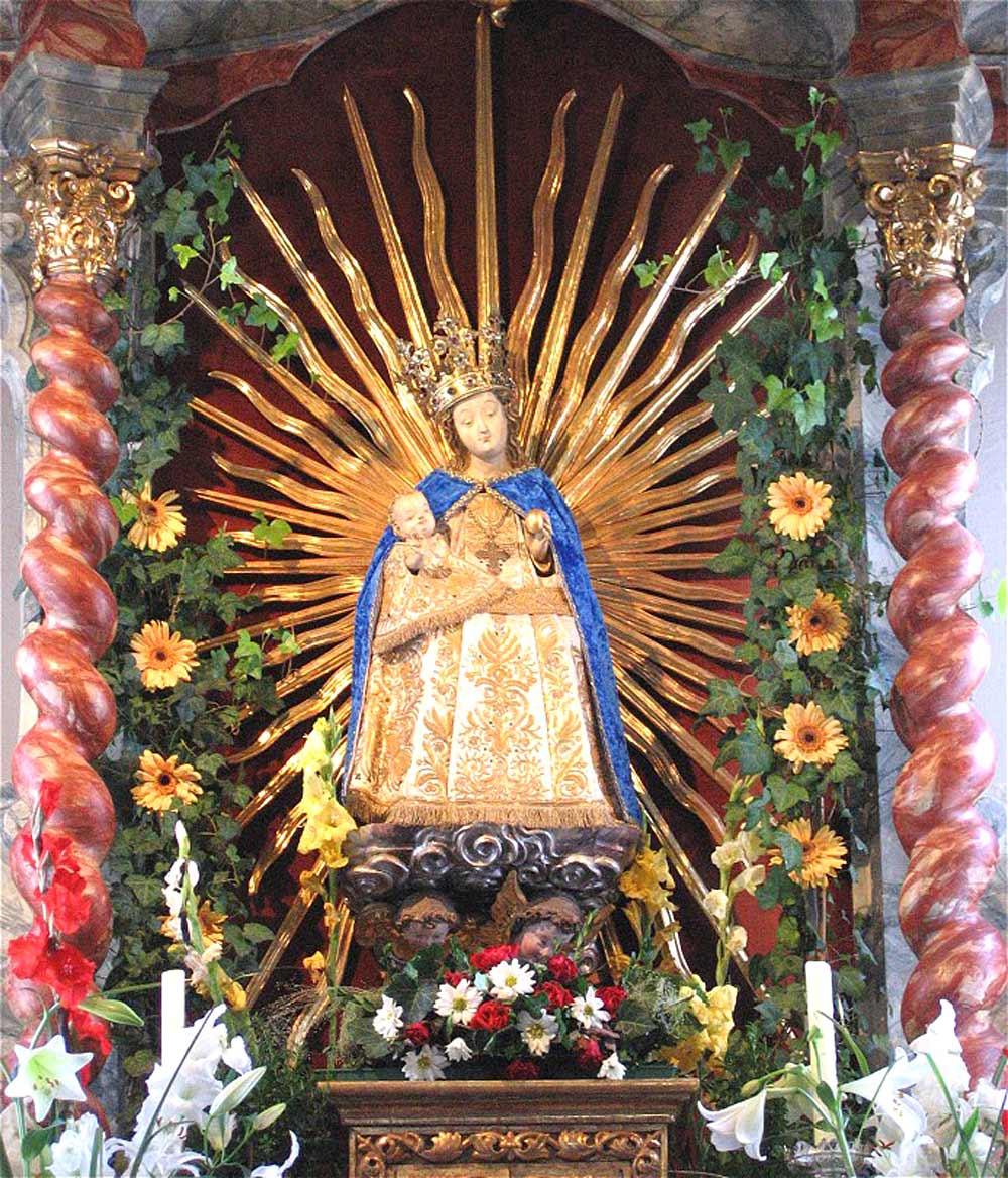 Die Gnadenmuttergottes in der Gnadenkapelle Unsere Liebe Frau von Mariastein