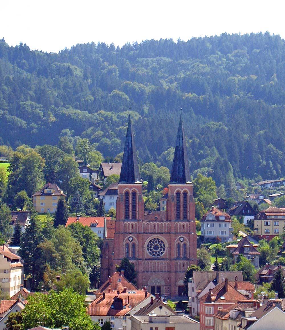 Außenansicht der Herz-Jesu-Kirche in Bregenz