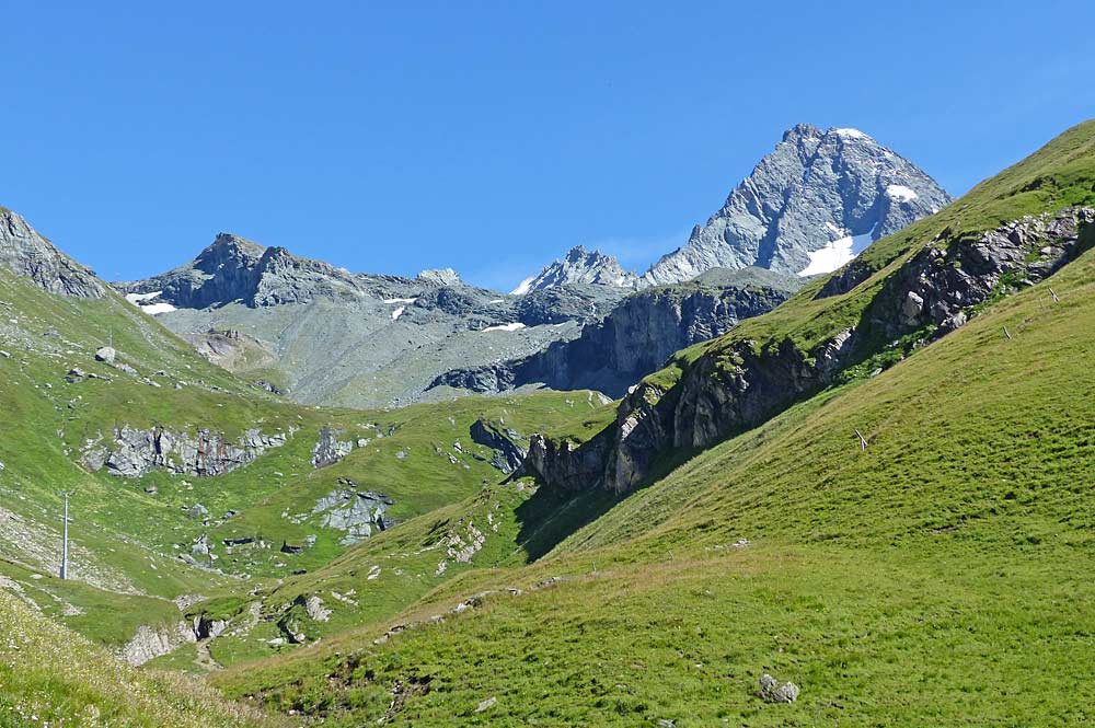 Blick auf den Großglockner und ins Obere Ködnitztal
