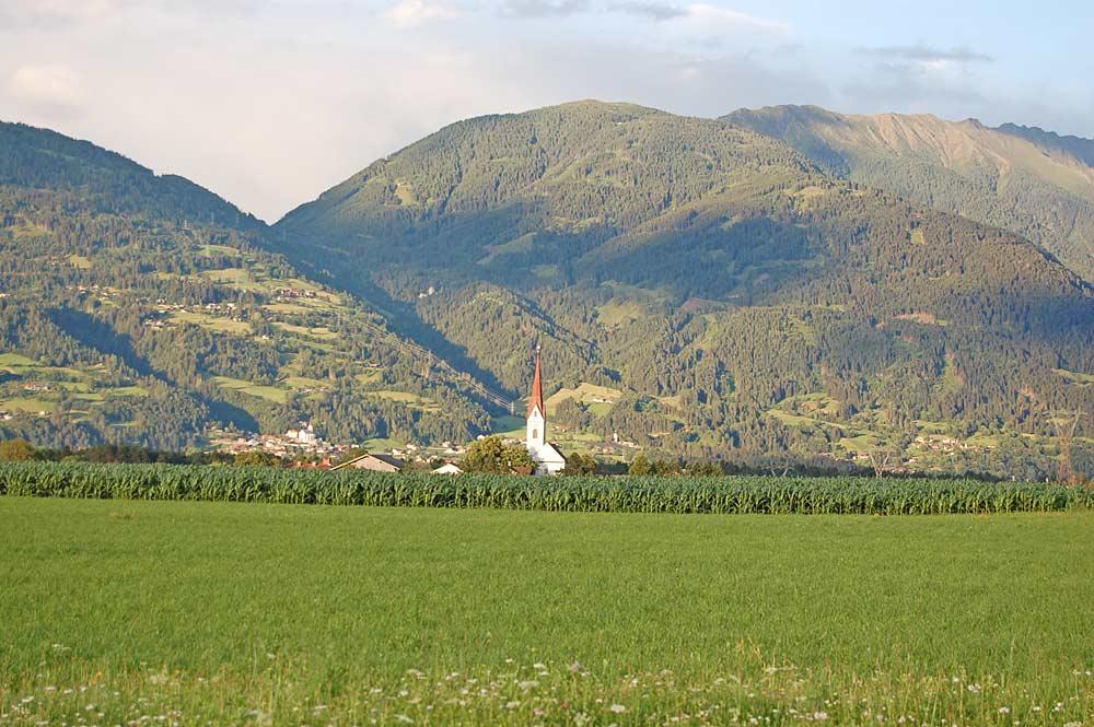 Gemeinde Tristach von Westen her gesehen