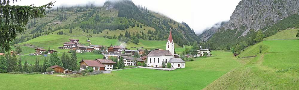 Panoramablick auf Gramais im Lechtal