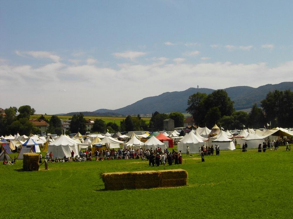 Gewandetenlager bei den Drachenfestspielen in Furth im Wald