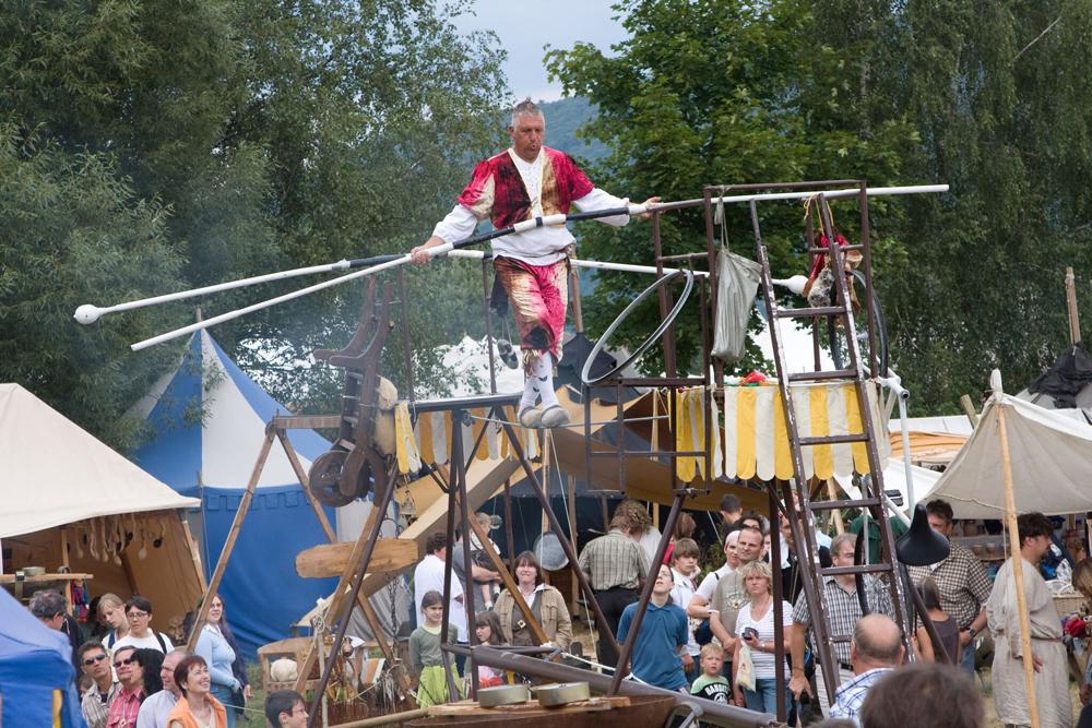 Artist beim großen Mittelaltermarkt