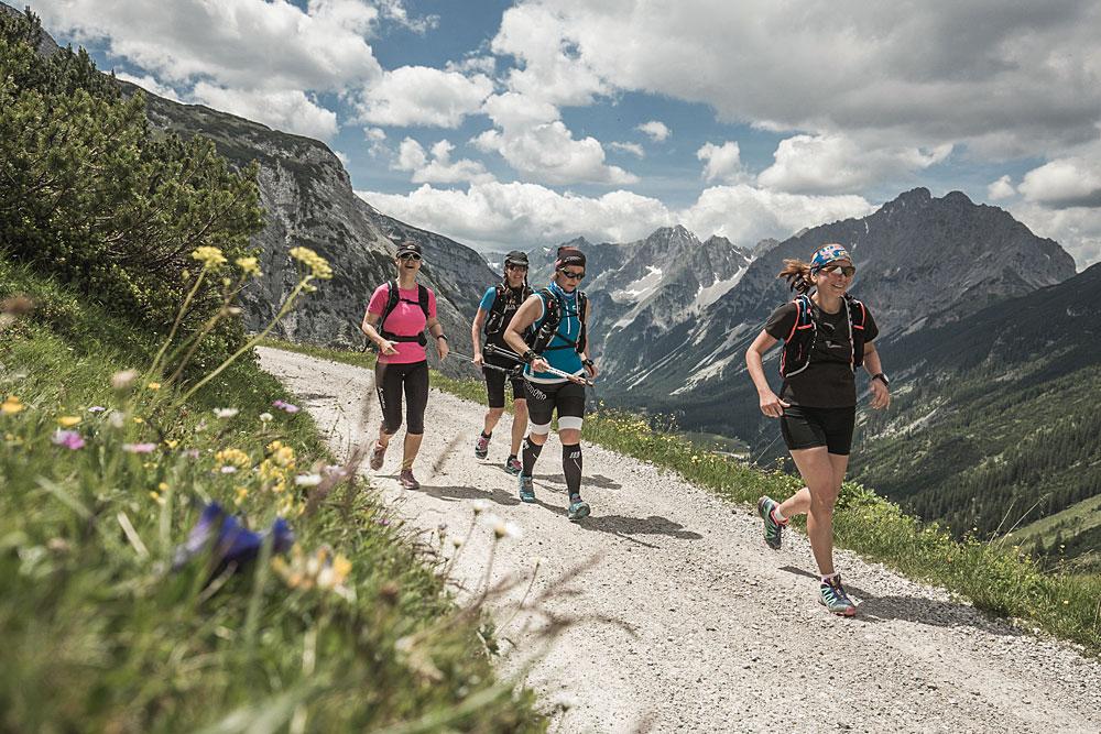 Wandergruppe in den Alpen