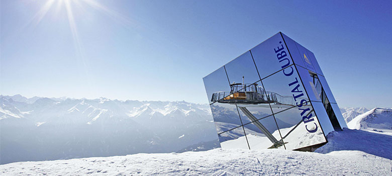 Der Crystal Cube in Serfaus-Fiss-Ladis