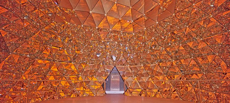 Die Kuppel des Kristalldoms in den Swarovski Kristallwelten
