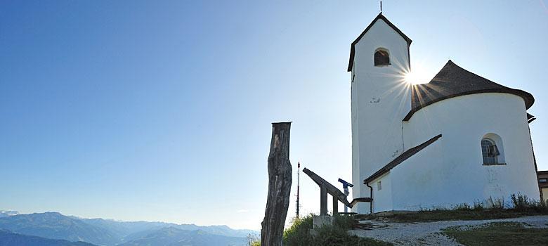 Die Wallfahrtskirche auf der Hohen Salve