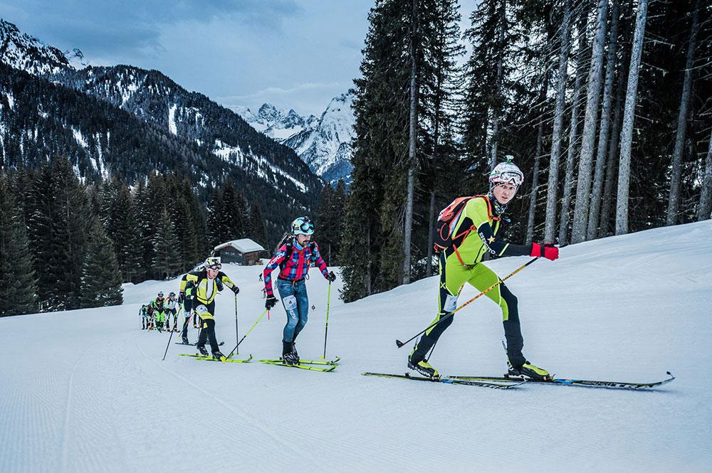 Teilnehmer des Sellaronda Skimarathons