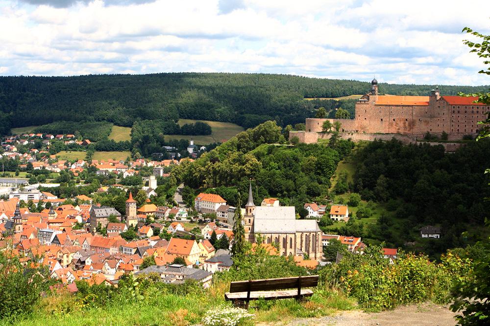 Blick auf Kulmbach und Plassenburg