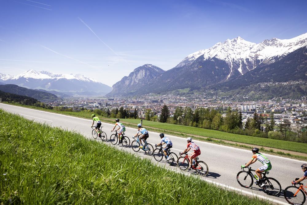 Radrennfahrer in der Region Innsbruck