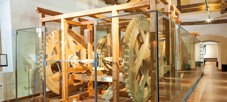 Die Münzprägemaschine im Erlebnismuseum Münze Hall