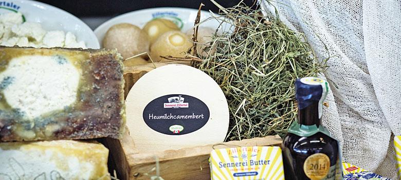 Produkte der ErlebnisSennerei Zillertal in Mayrhofen