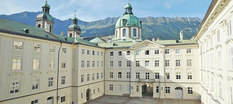 Innenhof der Kaiserlichen Hofburg Innsbruck