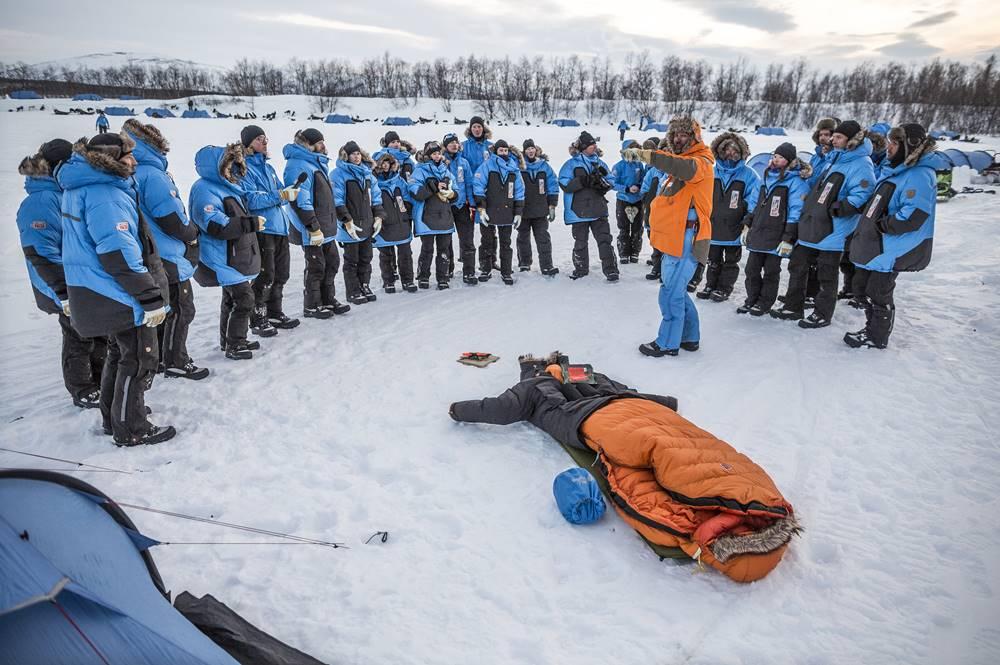 Erste Einweisung beim Fjällraven Polar