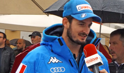 Dominik Paris beim Interview