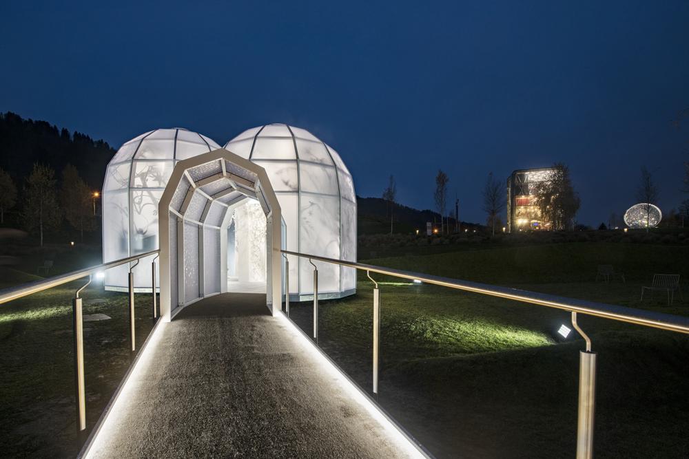 Pavillon in der Winterwunderwelt der Swarovski Kristallwelten