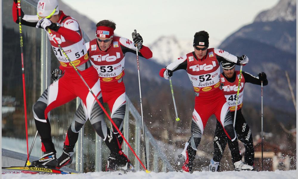 Langlaufrennen beim Nordic Combined Triple