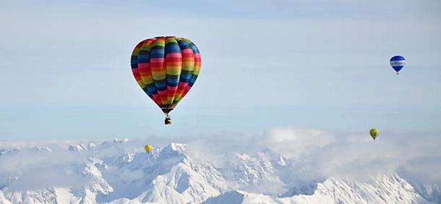 Aussicht genießen bei einer Ballonfahrt