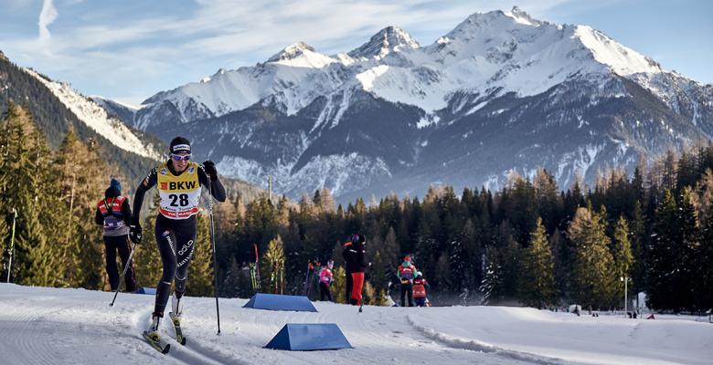 Langläufer bei der Tour de Ski in Lenzerheide