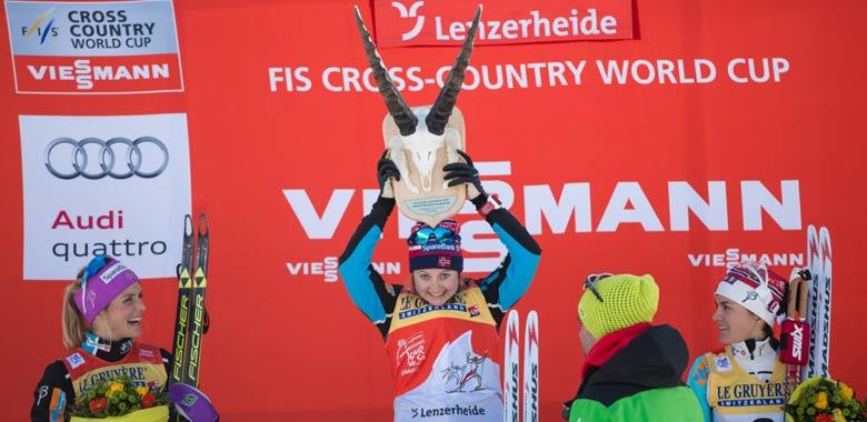 Siegerehrung bei der Tour de Ski