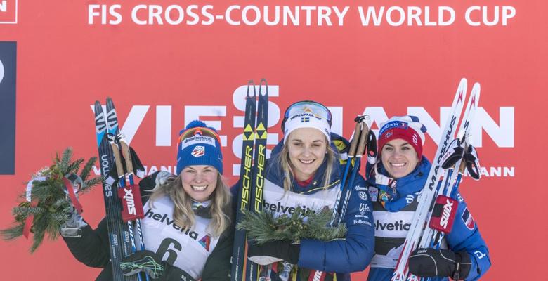 Siegerehrung bei der Tour de Ski in Oberstdorf