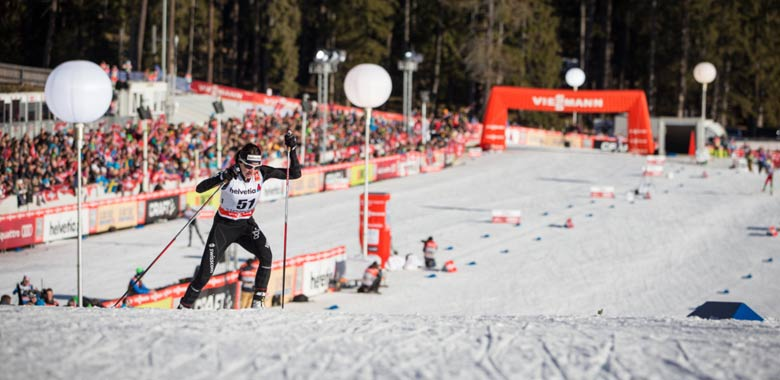Athletin bei der Tour de Ski