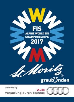 Plakat zur Ski WM in St. Moritz 2017
