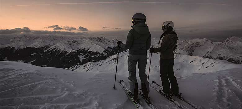 Blick auf die längste Talabfahrt Vorarlbergs in Silvretta Montafon