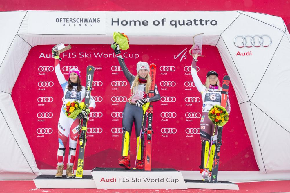 Siegerpodest beim Slalom-Rennen Ofterschwang 2018