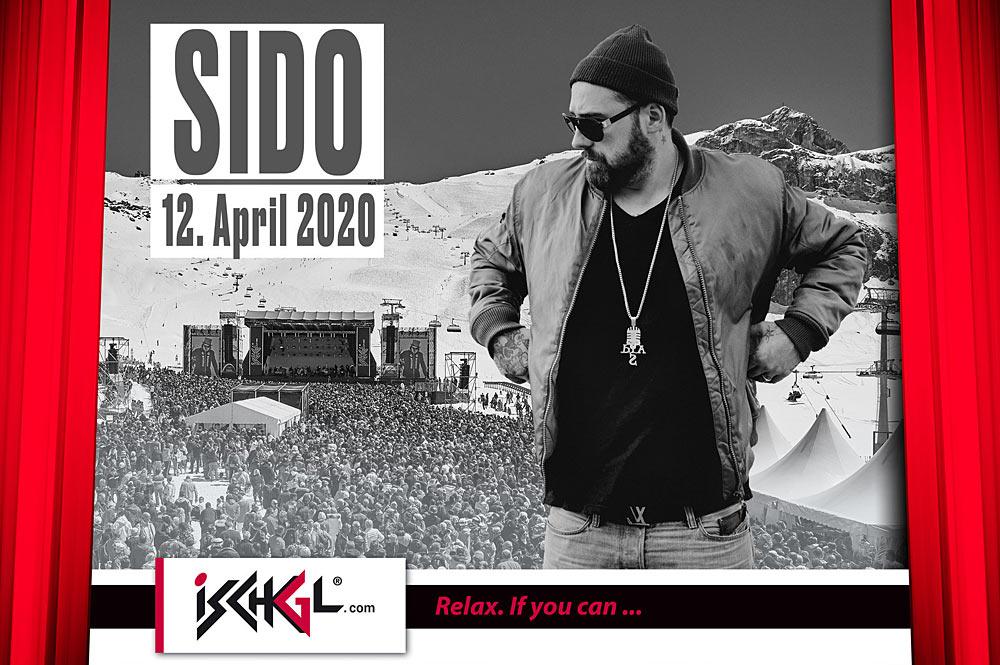Rapper Sido tritt beim Top of the Mountain Easter Concert 2020 in Ischgl auf