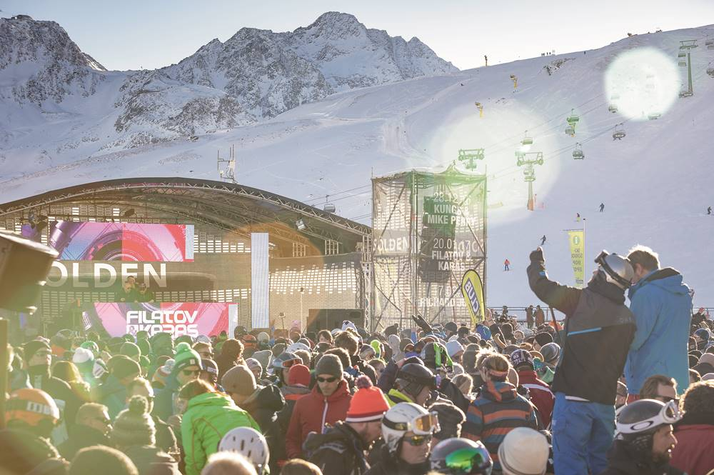 Funzone am Giggijoch beim Electric Mountain Festival 2017 in Sölden