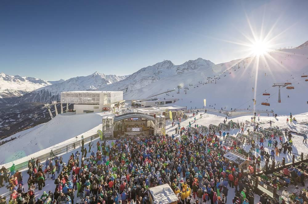 Electric Mountain Festival in der Funzone am Giggijoch in Sölden