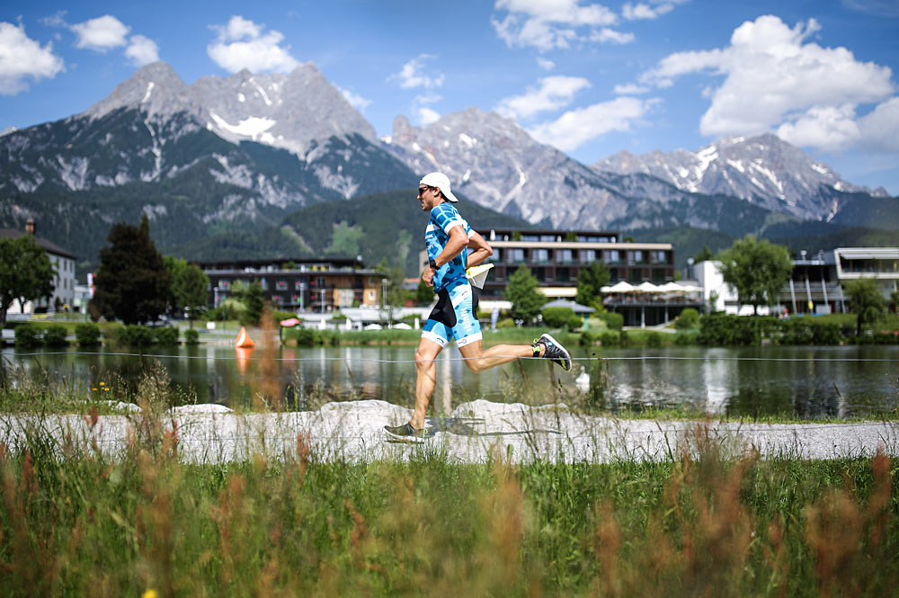 Laufstrecke am Ritzensee beim Trimotion Triathlon in Saalfelden