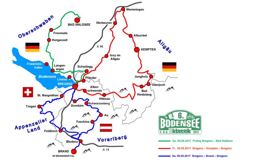 Streckenführung der Bodensee Classic 2017