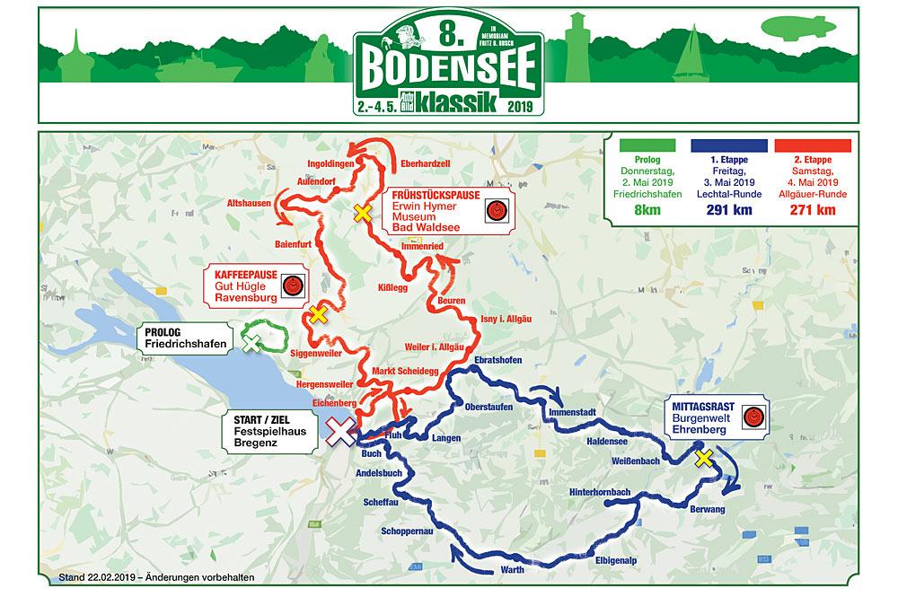 Streckenführung der 8. Bodensee-Klassik