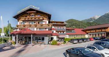 Blick auf das Gourmet-Hotel