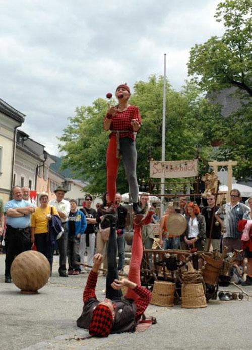 Gaukler beim Mittelalterfest in Mauterndorf