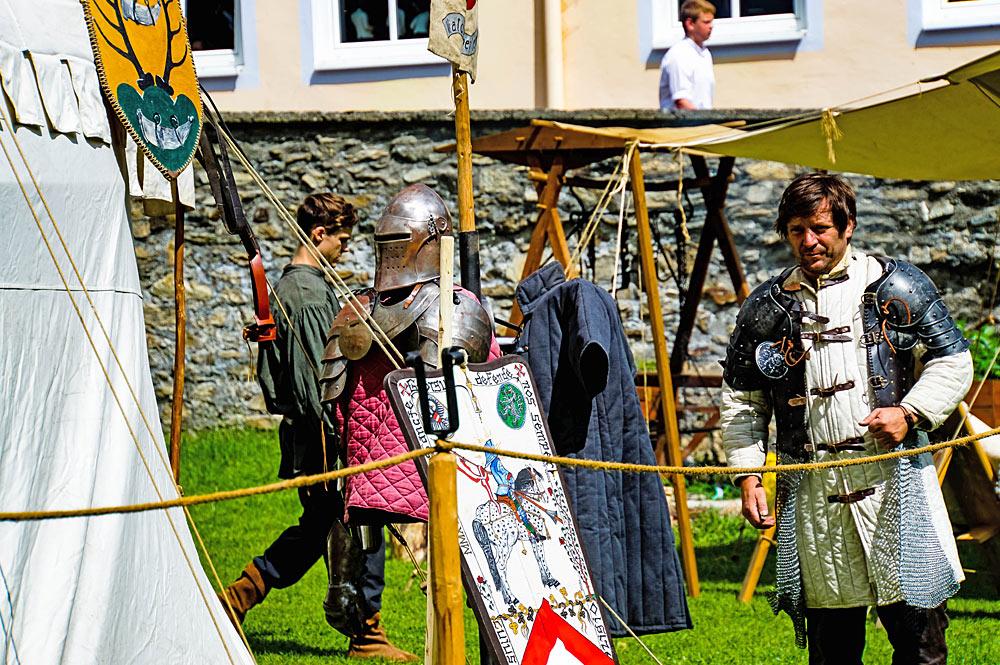 Ritterlager beim Mittelalterfest Mauterndorf