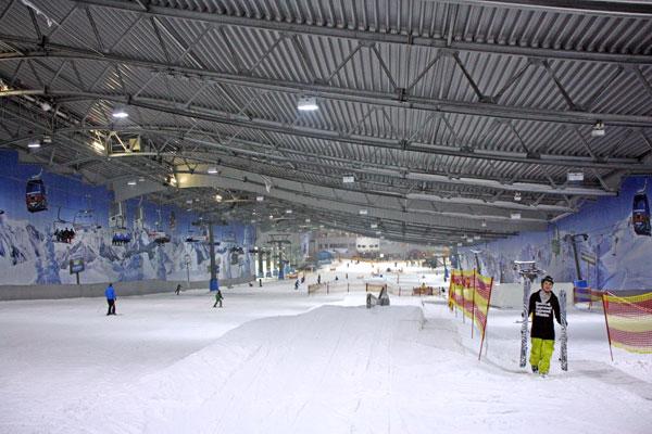 Skihalle des Alpenparks Neuss
