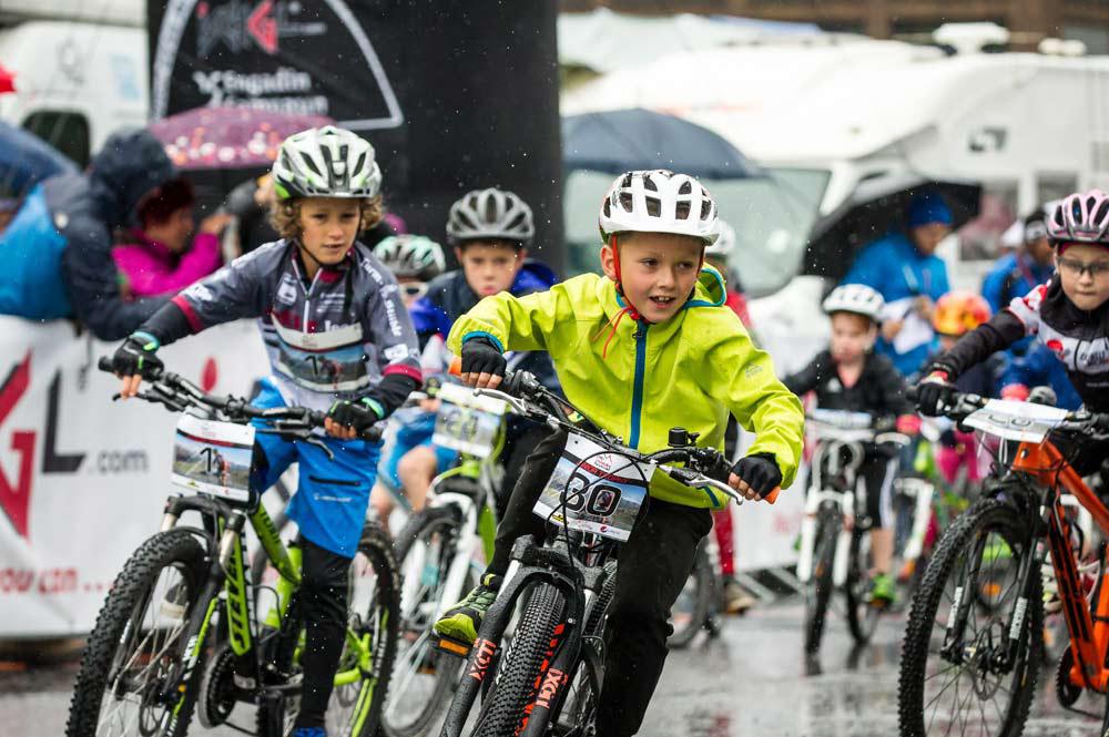Teilnehmer bei der Kids und Junior Trophy beim Ischgl Ironbike