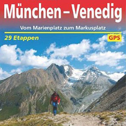 Karte Wanderführer München - Venedig