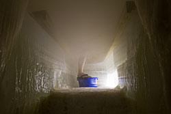 Eissauna im Arctic SnowHotel in Sinettä